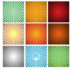 Abstract background Collection vector image vector image