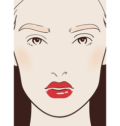 Beautiful woman vector