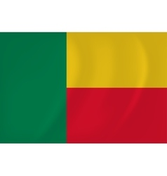Benin waving flag vector image