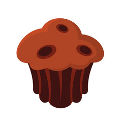 brownie colorful bakery product icon vector image vector image