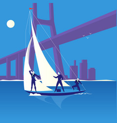 business regatta concept in vector image