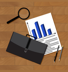 Business statistics top view vector