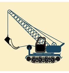color icon with construction equipment vector image