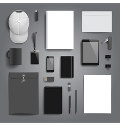 Corporate identity stationery mock-up vector