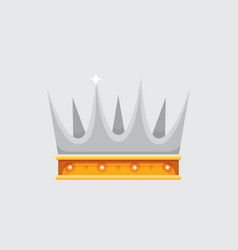 crown icon award for winners champions vector image