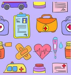 Doodle of medical object design cartoon vector