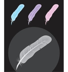 Feather icons vector image