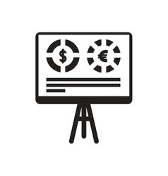 Flat icon in black and white board infographics vector