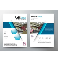Flyer design Layout Template Brochure For annual vector image vector image