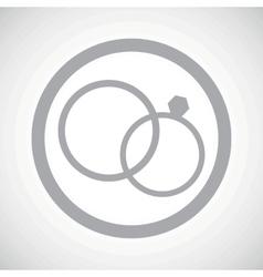 Grey wedding rings sign icon vector image