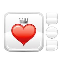 Happy valentines day romance love heart prince vector