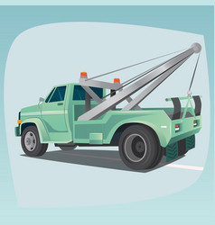 isolated tow truck with crane vector image