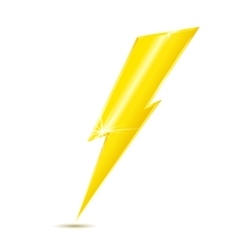 Lightning bolt icon isolated on white background vector image
