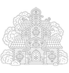 Old ornate tower vector