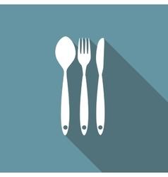 Restaurant Menu Icon with Long Shadow vector image vector image
