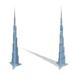 Skyscraper Burj Khalifan in United Arab Emirates vector image