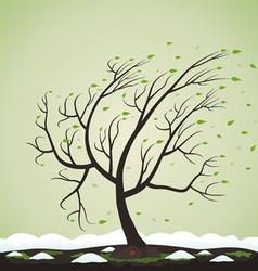 Tree spring vector image vector image