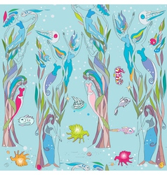 under the sea pattern vector image vector image