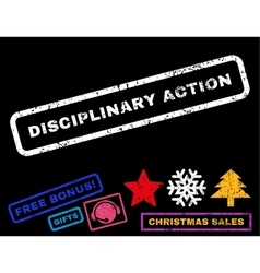 Disciplinary action rubber stamp vector