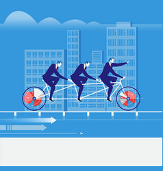 businessmen riding tandem vector image