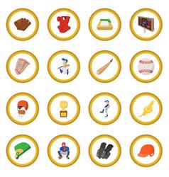 American football cartoon icon circle vector