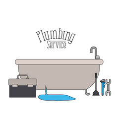 Color poster of bath dripping flooded plumbing vector
