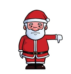 Santa claus giving thumbs down vector