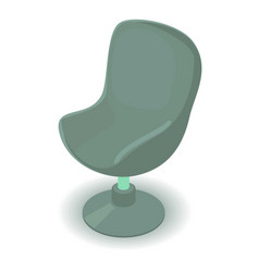 green chair icon isometric 3d style vector image