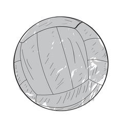 Retro volleyball ball vector