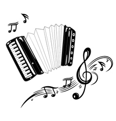 Accordion music vector