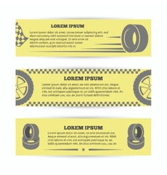 Tire banners set vector