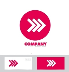 Forward arrow concept pink logo icon vector