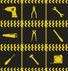 Repairing service tool sign icons vector
