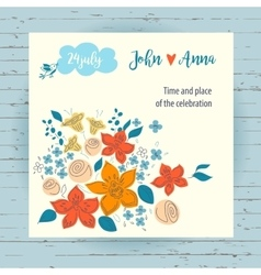 Invitation card for record date wedding on vector