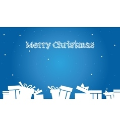 Backgrounds christmas gift of silhouette vector