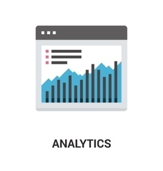 Analytics icon concept vector