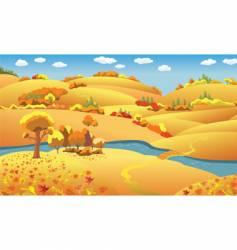 Autumn landscape vector