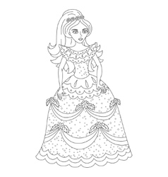 Beautiful princess in shining dress with spangles vector image vector image