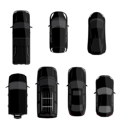 Black car set vector image vector image