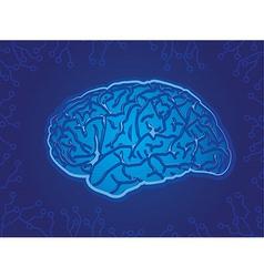 Blue technology brain vector