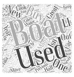 Buying a used boat word cloud concept vector