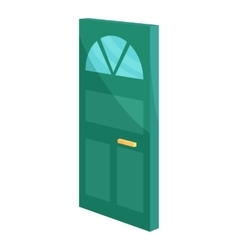 Cabinet door icon cartoon style vector image