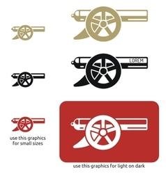 Cannon icon vector