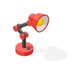 Cartoon lamp vector