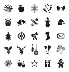 Christmas and winter icons vector image