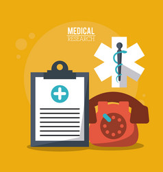Color poster medical research with medical vector