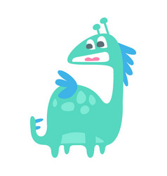 cute colorful funny dinosaur prehistoric animal vector image vector image