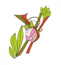 floral font 2 letter y vector image