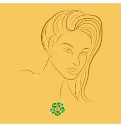 girl with gold vector image vector image