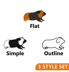 Hamster icons set vector image vector image